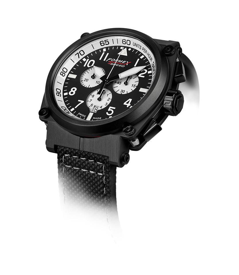 Quartz Chronograph White Black