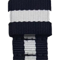 ESSENCE Blue/White NATO strap (with pin buckle)