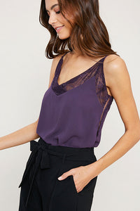 Lace Cami - Midnight