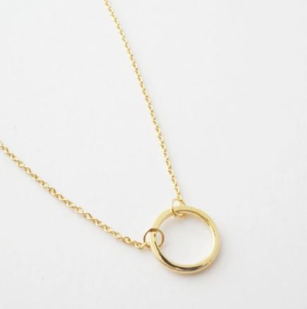 18k Gold Dipped Mini Orbit Necklace