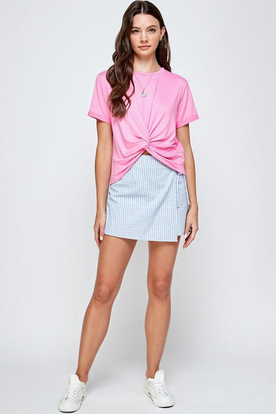 Twisted Knot Shirt - Bubble Gum
