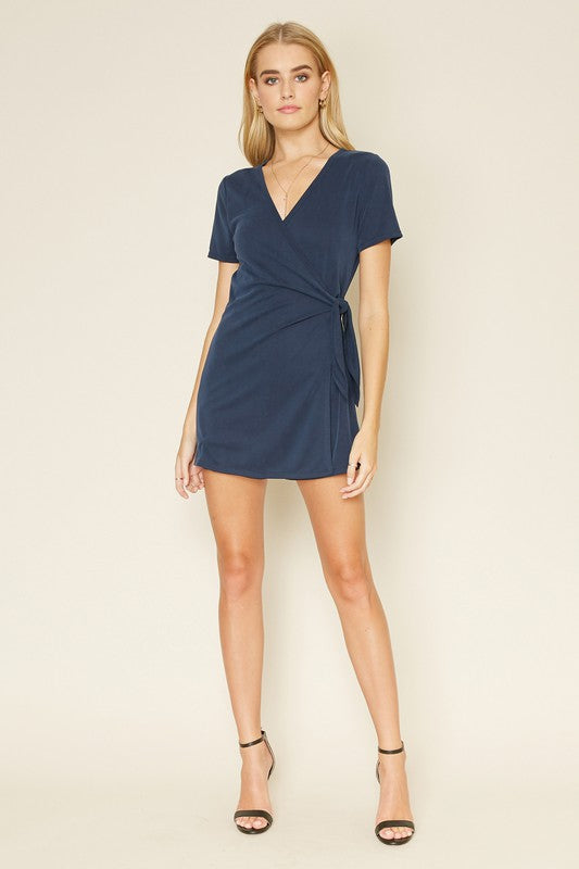 Wrap Romper - Navy Blue