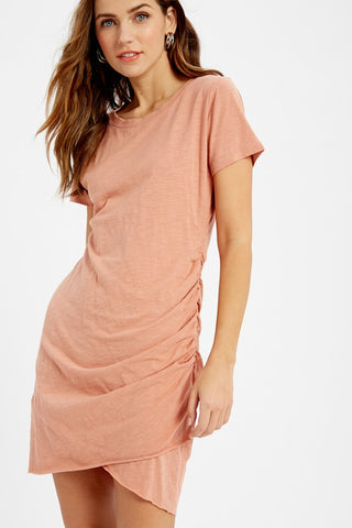 Ruched Mini Dress - Ginger