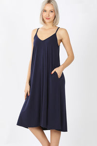 Cami Midi Dress - Navy