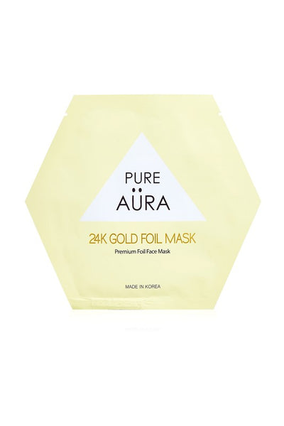 24K Gold Metallic Foil Face Mask