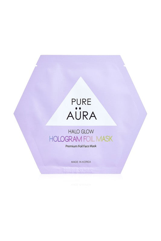 Halo Glow Hologram Foil Face Mask