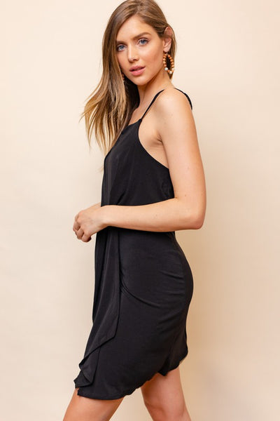 Knot Front Mini Dress