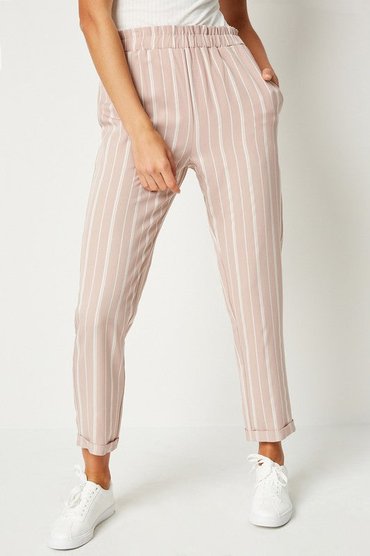 Striped Waist Trousers