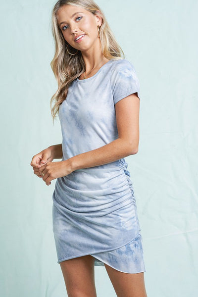 Harmony Tie Dye Dress - Dove
