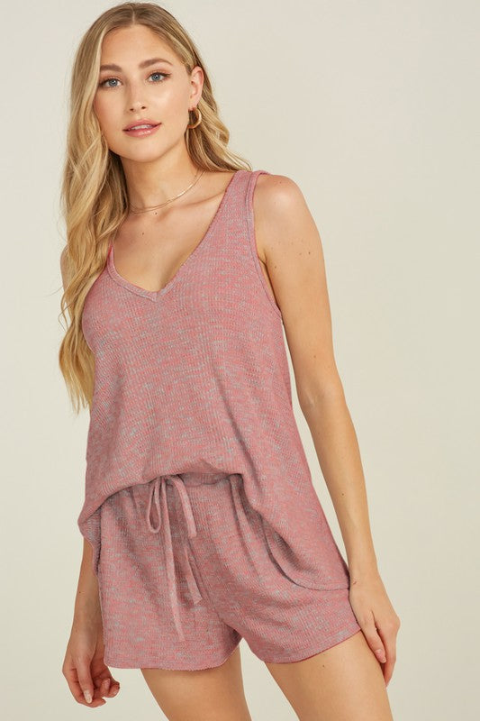 Sleeveless Set - Mauve