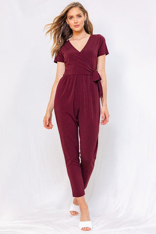 Red Wine Jumpsuit