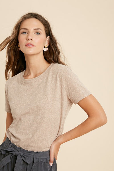 Heather Knit Top - Mocha