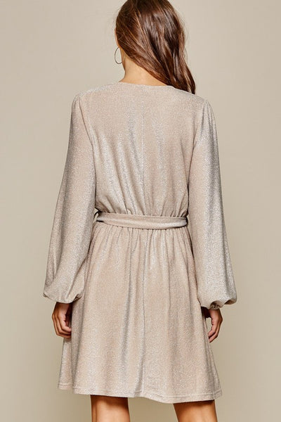 Champagne Knit Dress