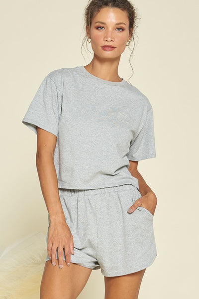 Sienna PJ Set - Heather Grey