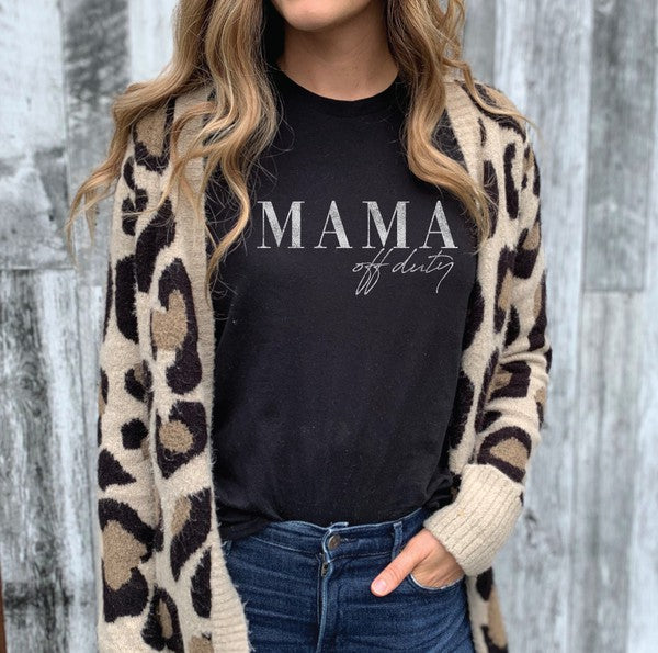 Mama Off Duty - Black