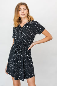 Pattern Shirt Dress