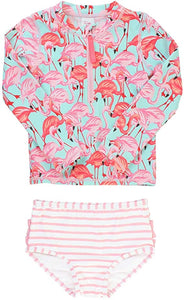 Fab Flamingo Rash Guard (Toddler/Girls)