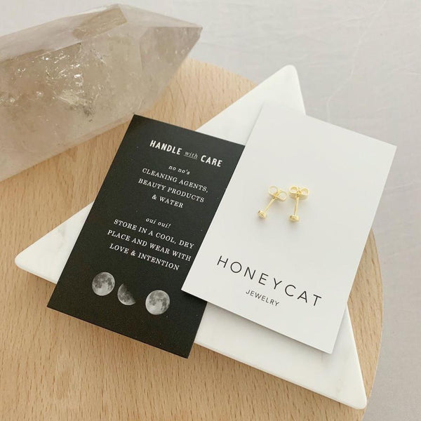 18k Gold Dipped Mini Circle Stud Earrings
