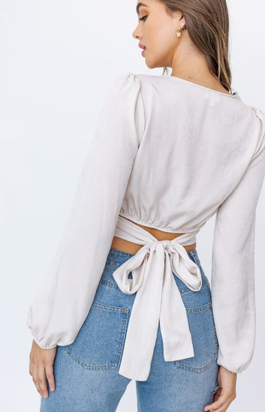 Back Tie Crop Top