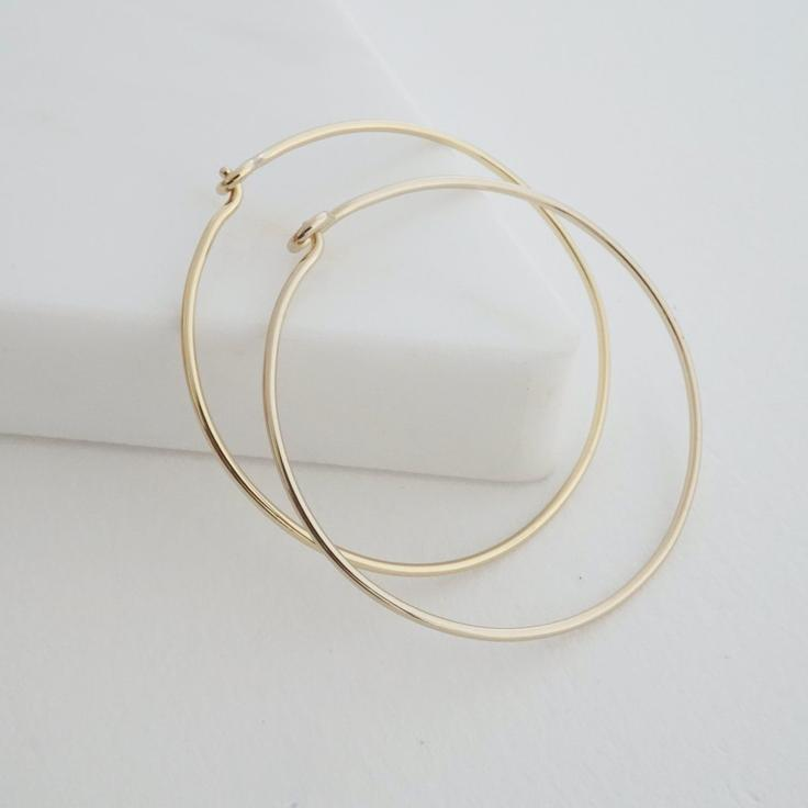 18k Gold Dipped Everyday Hoops (Large)