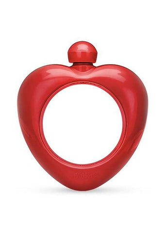 Heart Shaped Bangle Flask - Red
