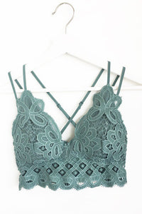 Lace Bralette - Light Teal