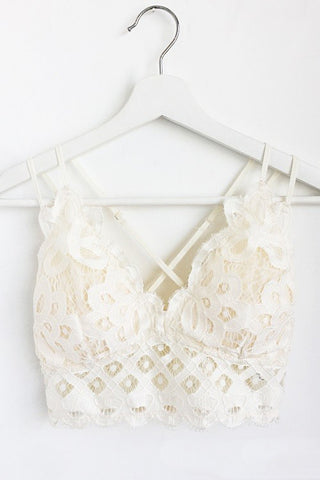 Lace Bralette - Off White