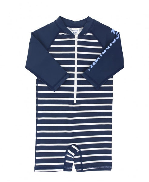 Navy Stripe Rash Guard Bodysuit (Baby/Toddler)