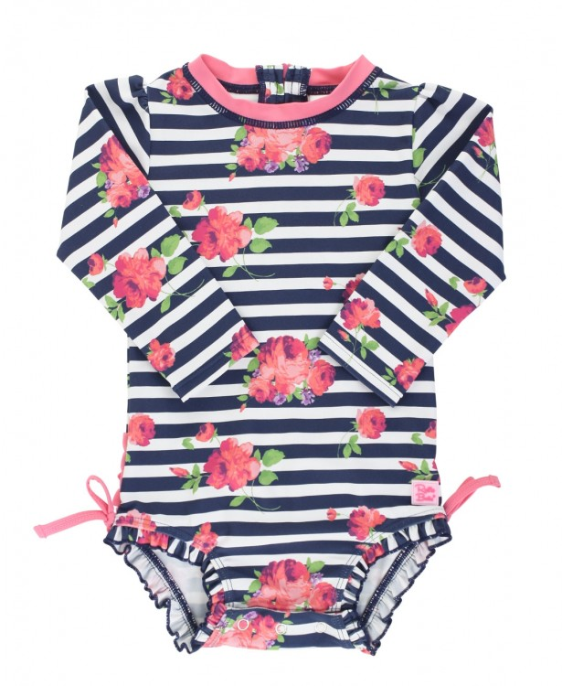 Rosy Floral Rash Guard (Baby/Toddler)