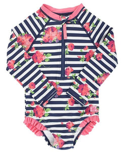 Rosy Floral Rash Guard (Girls)