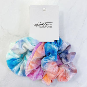 Tie Dye Velvet Scrunchie Set