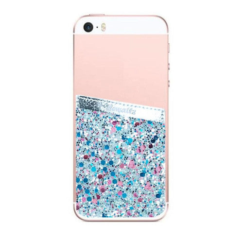 Phone Pocket - Blue Glitter