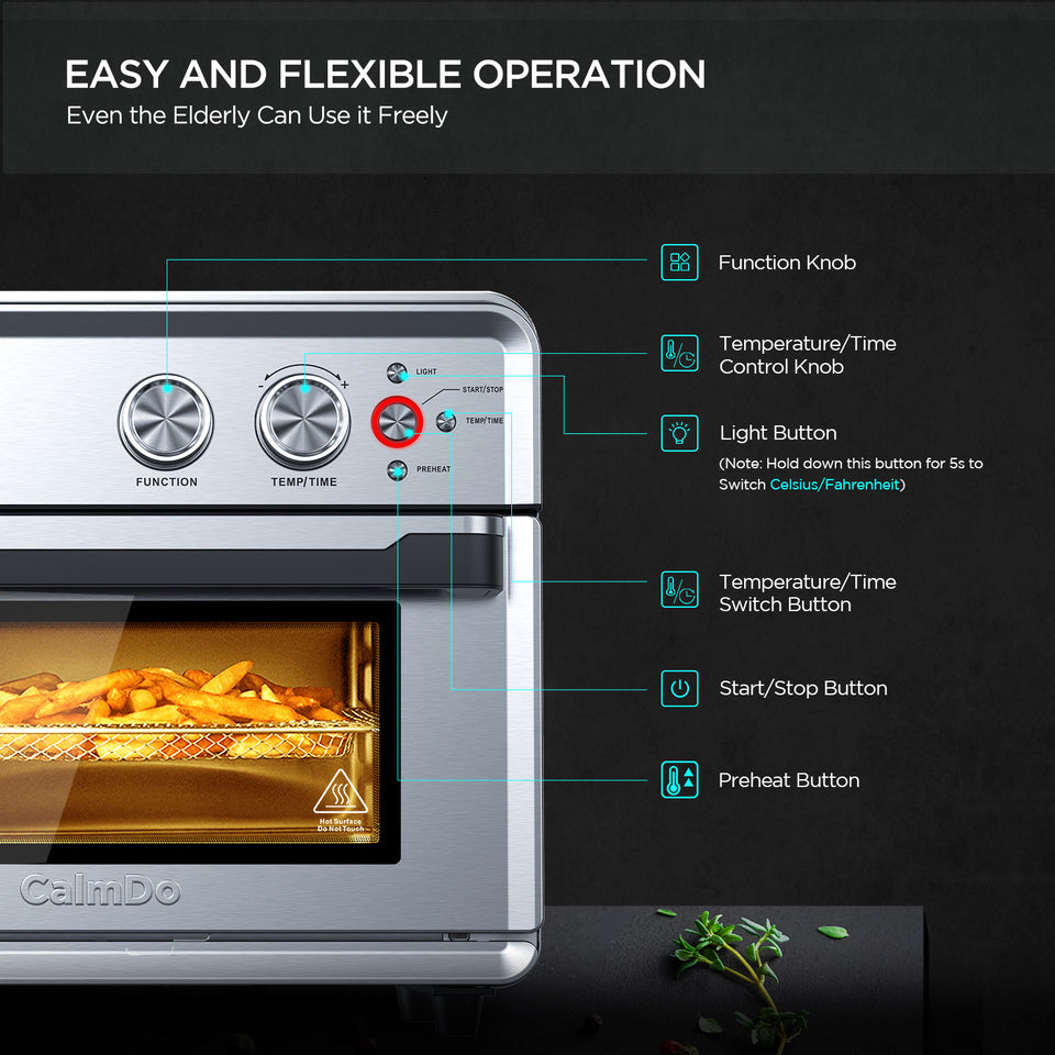 CalmDo 26.3 QT Air Fryer Toaster Oven( Just for US and CA) CalmDo 26.3 QT Air Fryer Toaster Oven( Just for US and CA) - calmdohome appliance CalmDo
