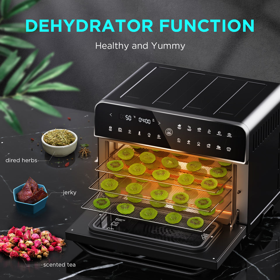 CalmDo Hot Air Fryer, Deep Fryer, Hot Air, Dehydrator, Black, 25 L (Just for EU) CalmDo Hot Air Fryer, Deep Fryer, Hot Air, Dehydrator, Black, 25 L (Just for EU) - calmdohome appliance calmdo
