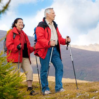 Older Couple Hiking Outdoors