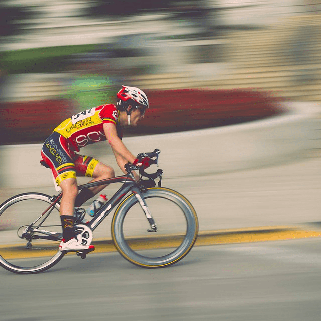Cyclist Man Biking Aerobic Exercise Amaranth