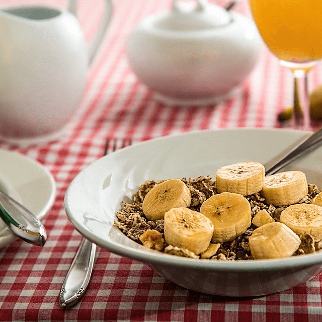 Bananas Granola Cereal Breakfast