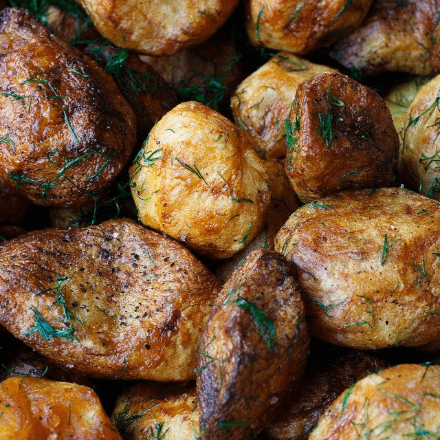 Baked Potatoes Roasted Herbs