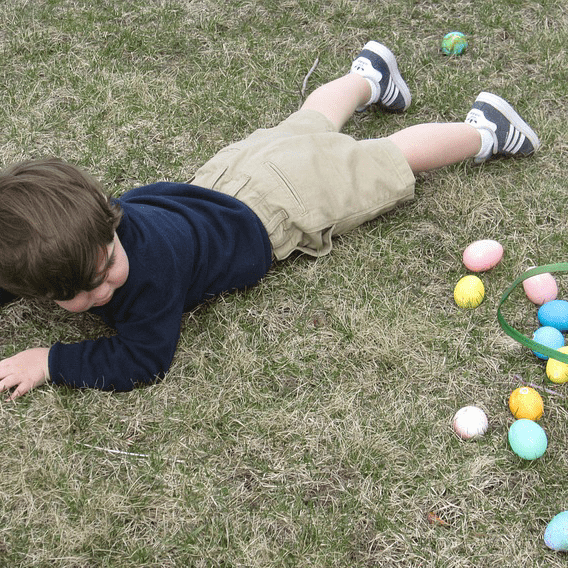 Child Fall Over Easter Egg Hunt