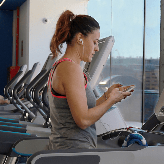 Treadmill Gym Walking Exercise