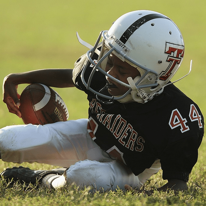 Kid Fall Over Football Hurt