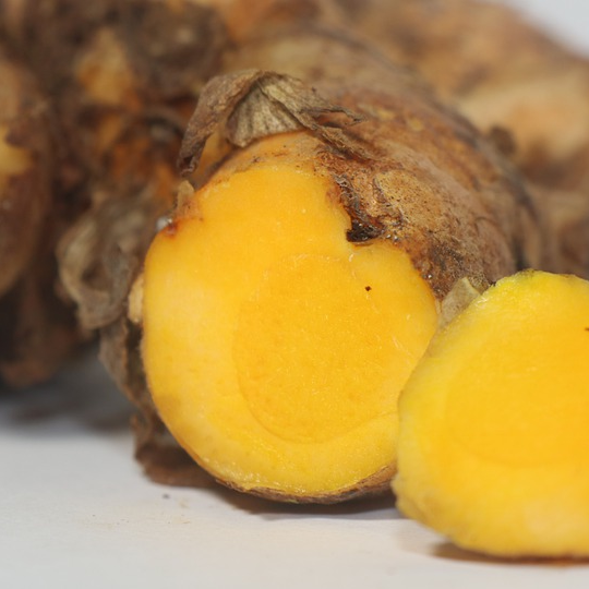 Sliced Cut Turmeric Spice Root