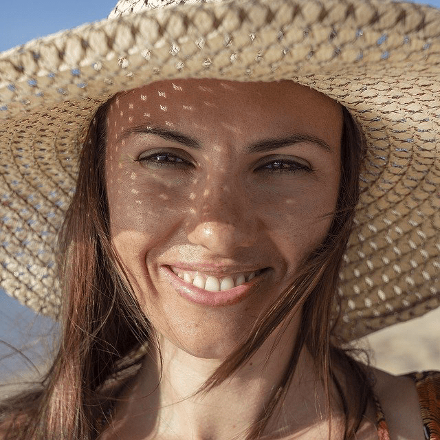 Woman Beach Hat Smile