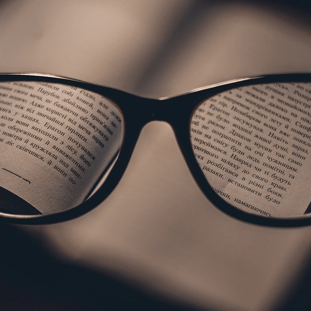 Glasses Book Blurry Vision Reading