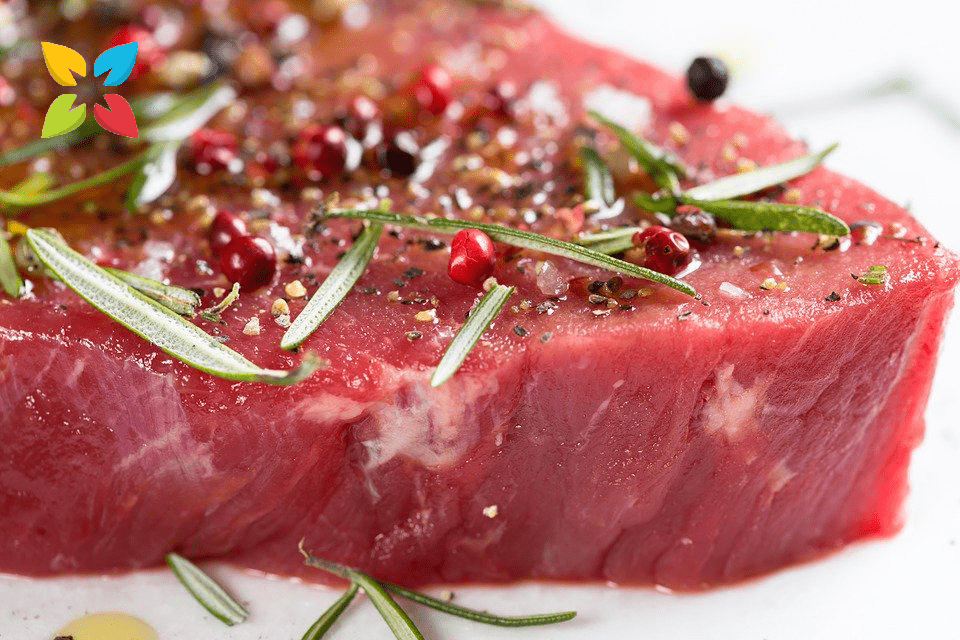 Red Meat Steak Raw Seasoned