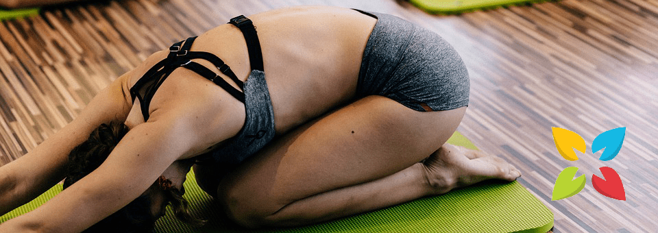 Hot Yoga Woman Stretch
