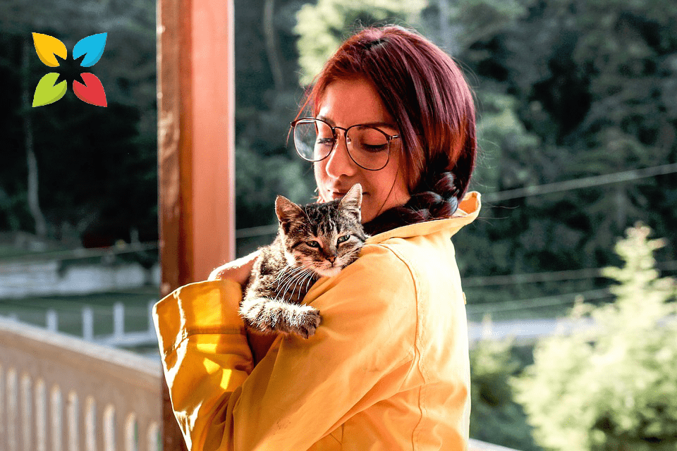 Cat Lady Holding