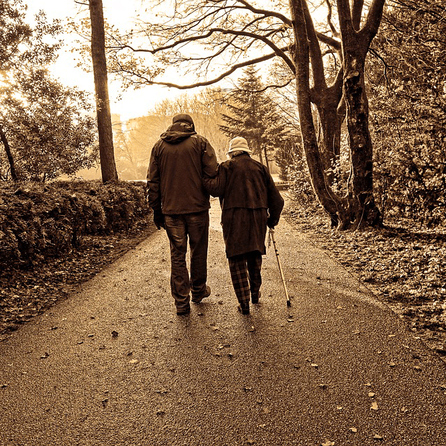 Elderly Couple Stroll