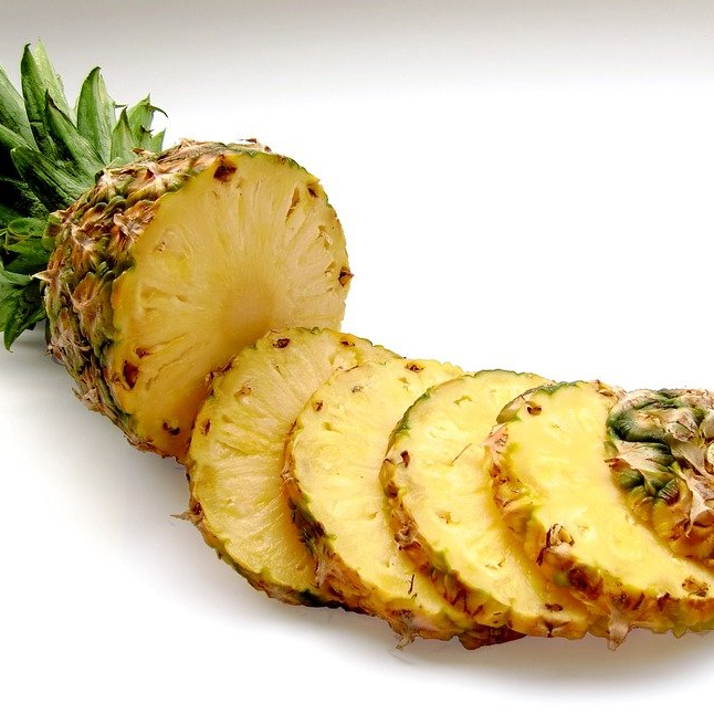 Fresh Sliced Pineapple Healthy Bromelain