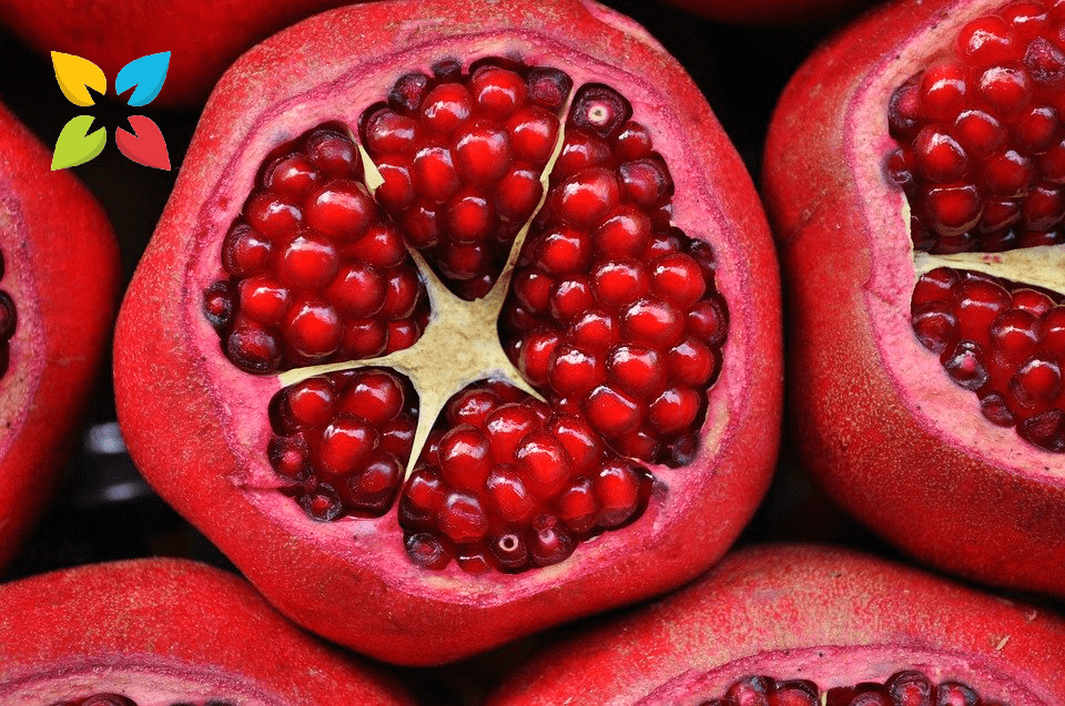 Fruit Pomegranate Cut Open